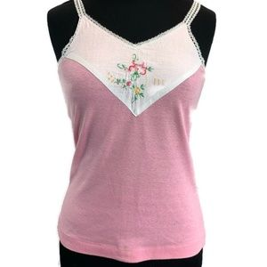 Vintage Annie Rose Embroidered Tank Top